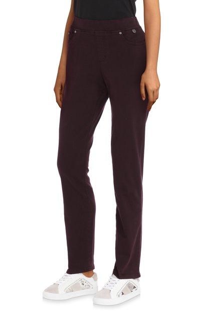 Pantalon 7/8 extensible bordeaux – slim fit
