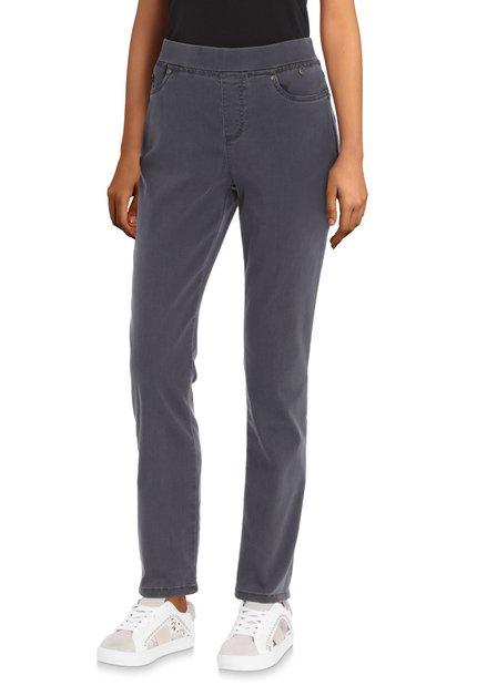 Pantalon 7/8 extensible gris – slim fit