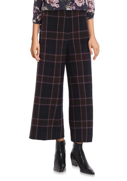 Pantalon à carreaux marron – flared fit