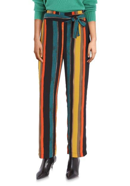 Pantalon ample rayé coloré