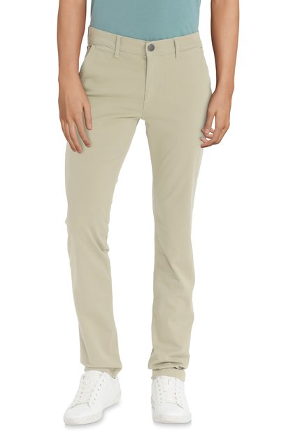 Pantalon beige – slim fit