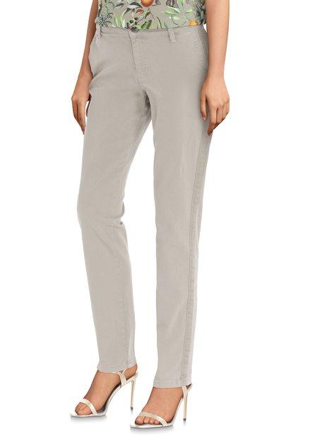 Pantalon beige avec bande latérale – slim fit