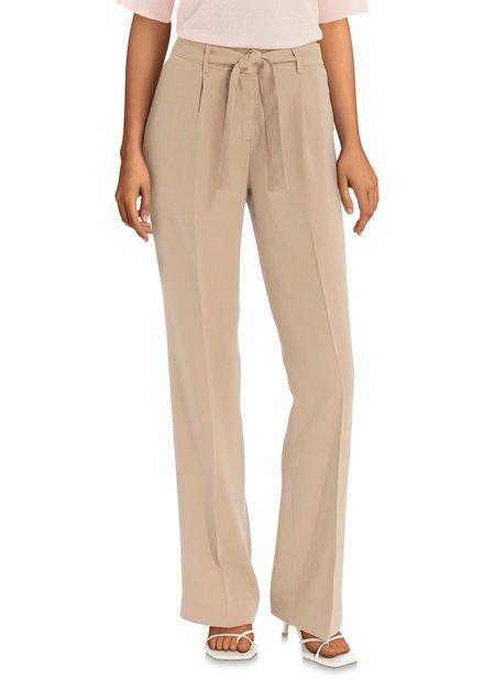 Pantalon beige avec ruban à la taille