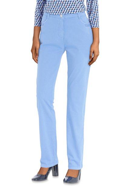 Pantalon bleu à petites perles – straight fit