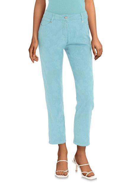Pantalon bleu avec texture – straight fit