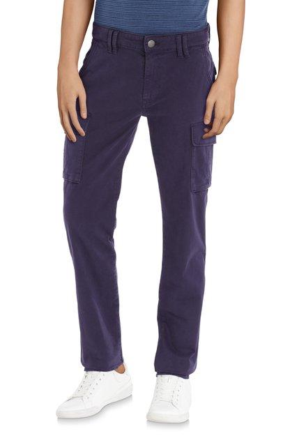 Pantalon bleu foncé à poches latérales – slim fit