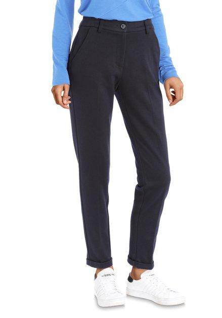 Pantalon bleu foncé à texture fine