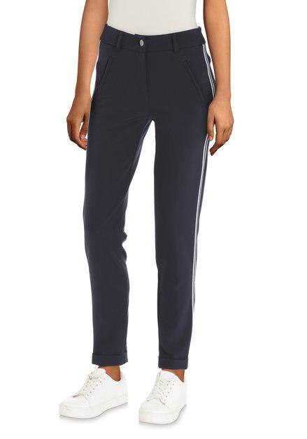 Pantalon bleu foncé avec galon - slim fit