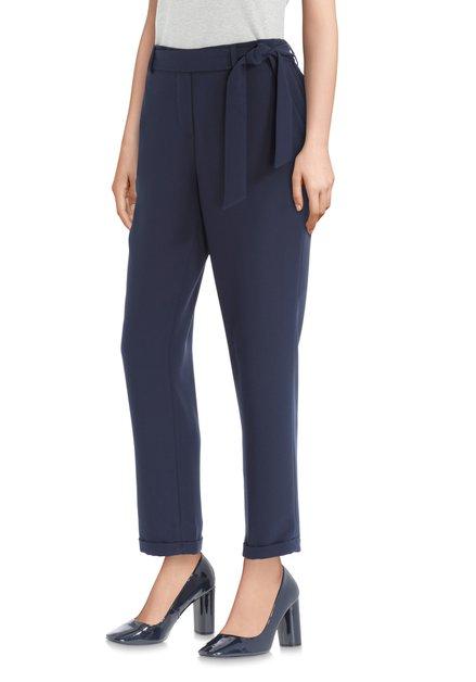 Ruban Pantalon Nouer Bleu Foncé À Avec m8nwN0v