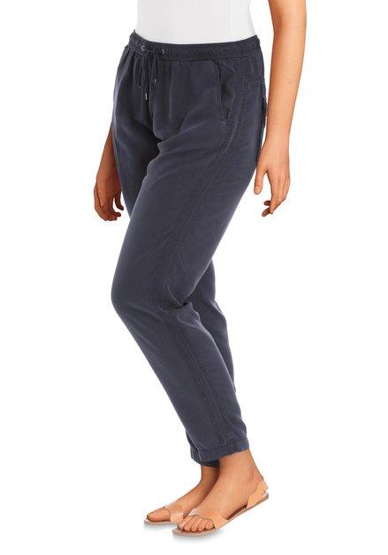 Pantalon bleu foncé en lyocell