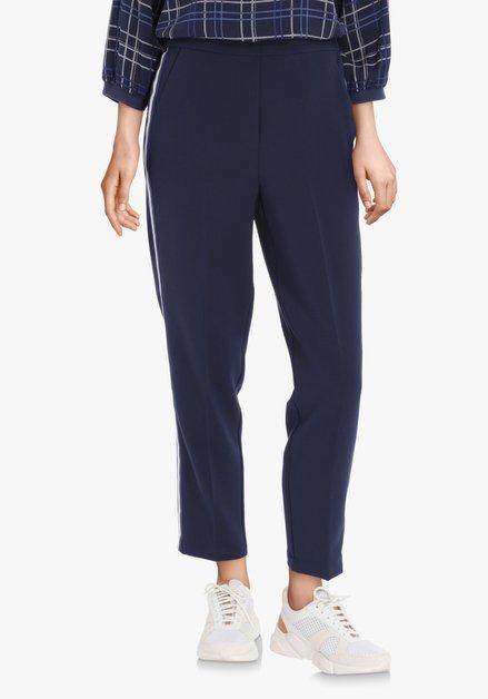 Pantalon bleu marine 7/8 avec galon – slim fit
