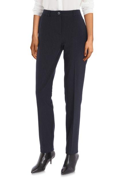 Pantalon bleu marine à fines rayures - slim fit