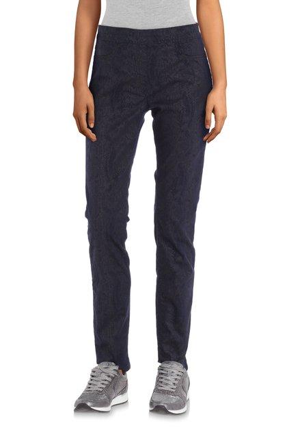 Pantalon bleu marine à imprimé serpent - slim fit