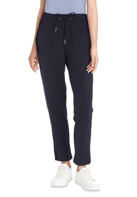 Pantalon bleu marine à taille élastique - slim fit