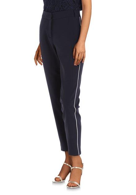 Pantalon bleu marine avec galon blanc