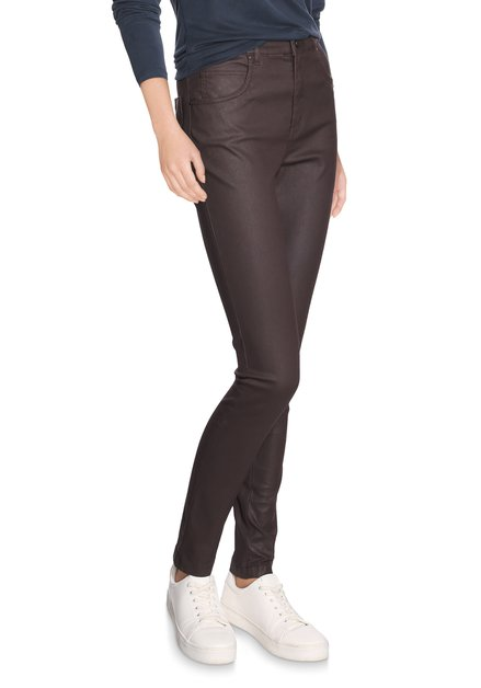 Pantalon bordeaux avec coating
