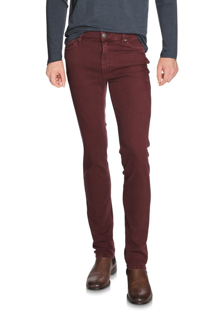 Pantalon bordeaux - coupe slim