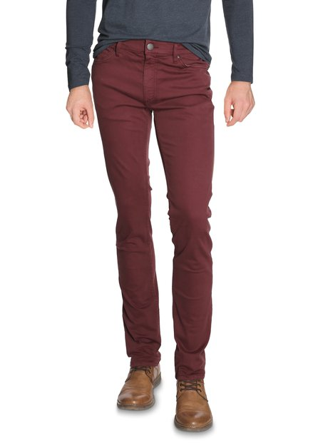 Pantalon bordeaux en stretch  - coupe slim