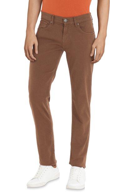 Pantalon brun – straight fit