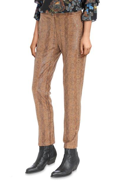 Pantalon brun avec imprimé de serpent
