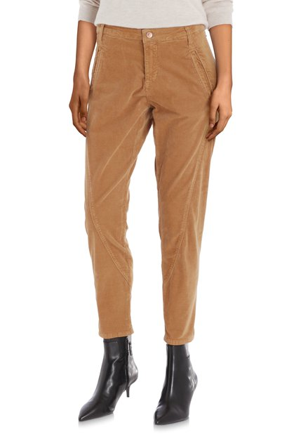 Pantalon brun clair en velours côtelé – slim fit