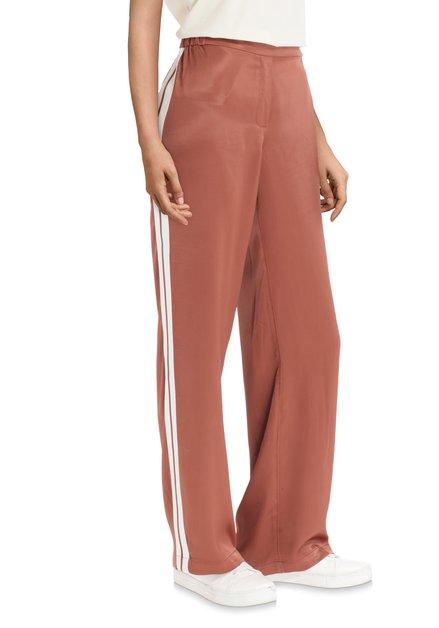 Pantalon brun effet soyeux