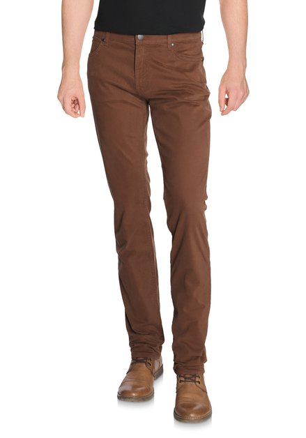 Pantalon brun - Straight fit