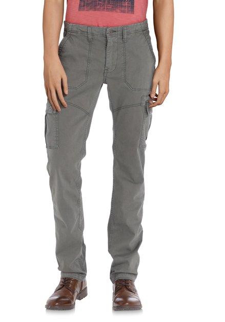 Pantalon cargo vert olive – slim fit