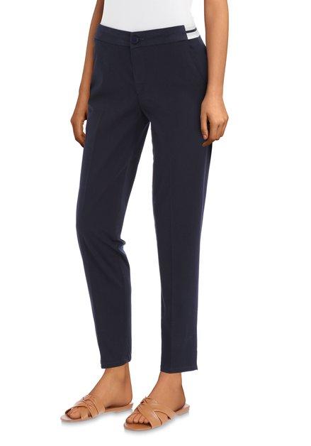 5e36c49f738 Pantalon cheville bleu foncé avec taille élastique