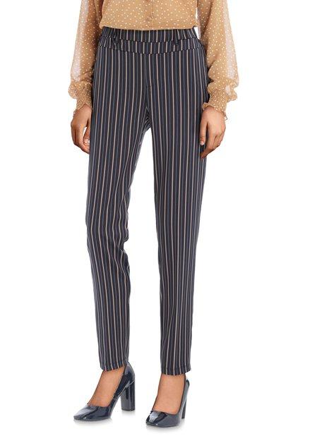 Pantalon classique bleu à rayures