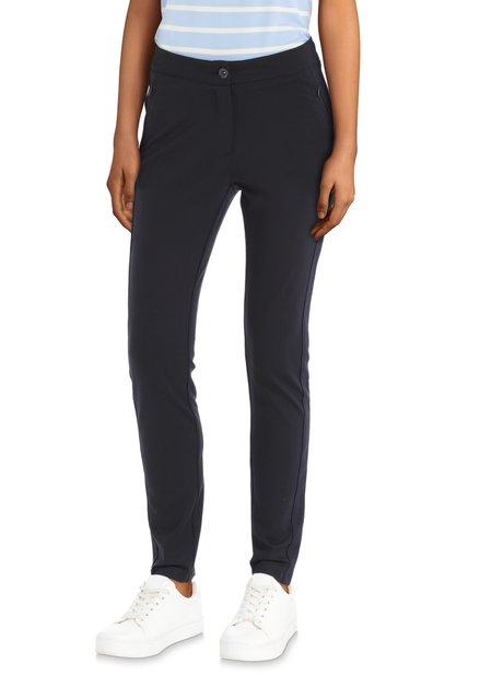 Pantalon classique bleu avec poches à tirettes