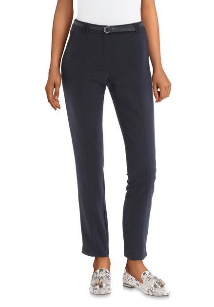 Pantalon classique bleu foncé avec ceinture