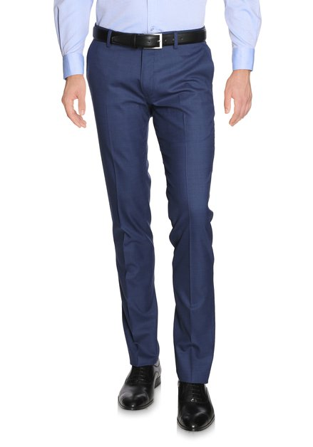 Pantalon de costume bleu moyen - Regular fit