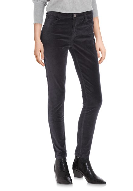 Pantalon en velours anthracite – slim fit