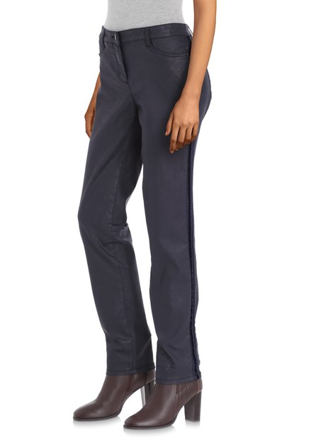Pantalon enduit bleu marine - slim fit