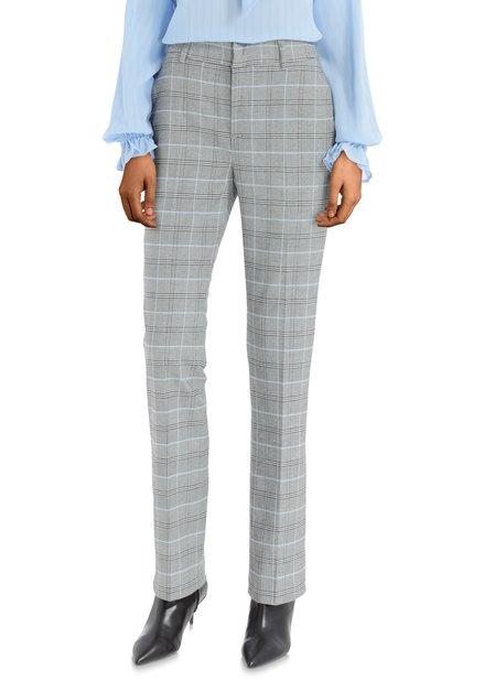 Pantalon gris à carreaux - bootcut