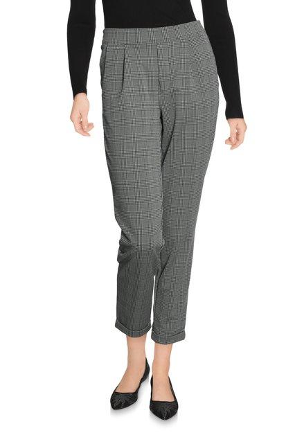 Pantalon gris à carreaux - slim fit
