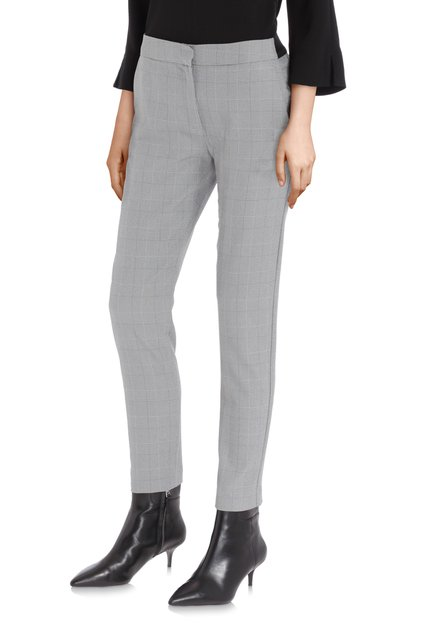 Pantalon gris à carreaux - slim fit