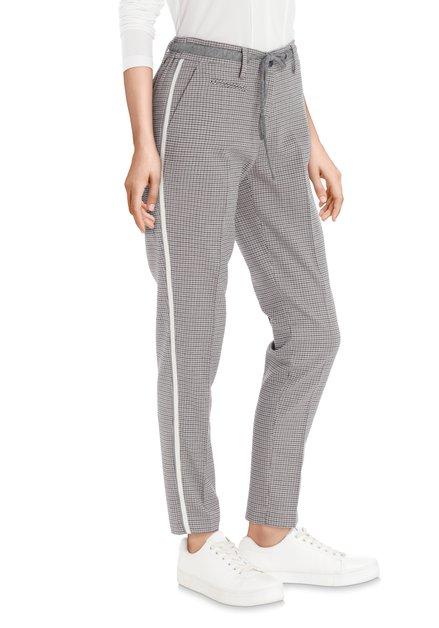 Pantalon gris avec pied-de-poule – slim fit