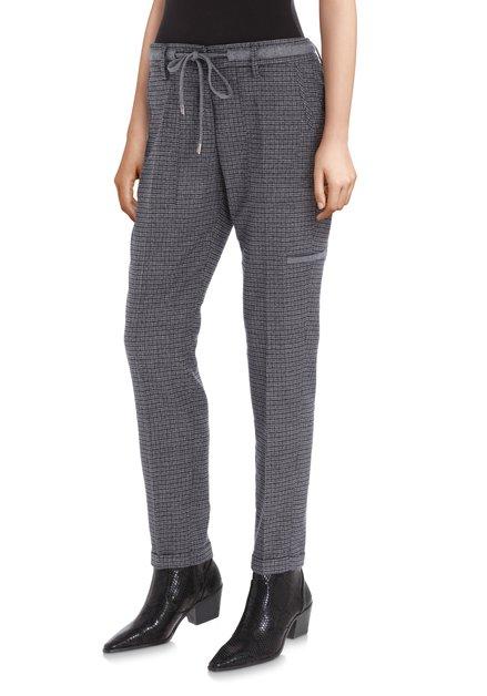 Pantalon gris foncé à carreaux - slim fit