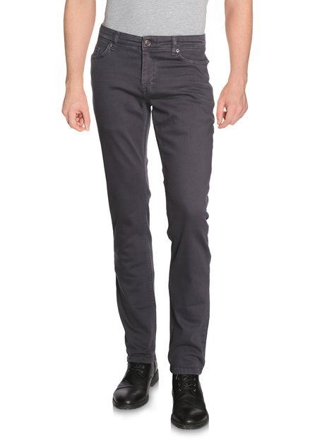 Pantalon gris souris en coton stretch