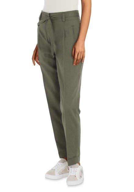 Pantalon kaki avec lin