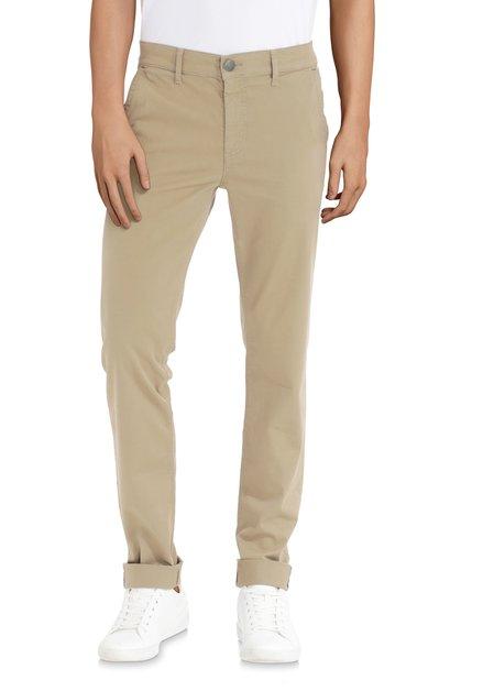 Pantalon kaki en coton stretch - slim fit