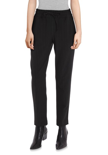 Pantalon noir à fines rayures - slim fit