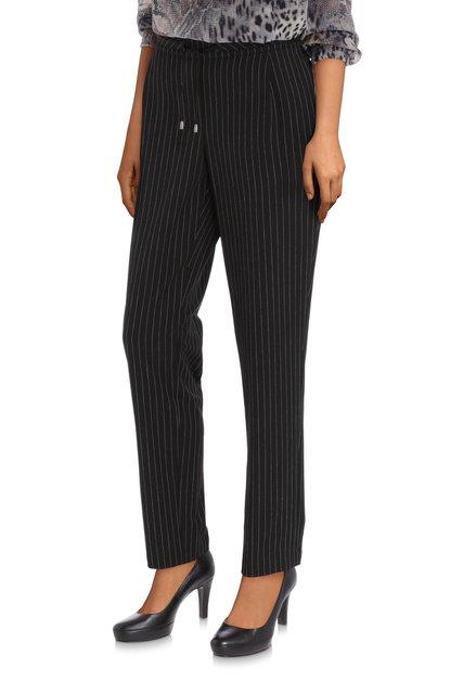 Pantalon noir à rayures blanches – slim fit