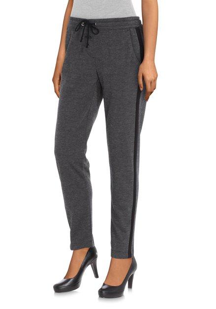Pantalon noir avec galon noir - slim fit
