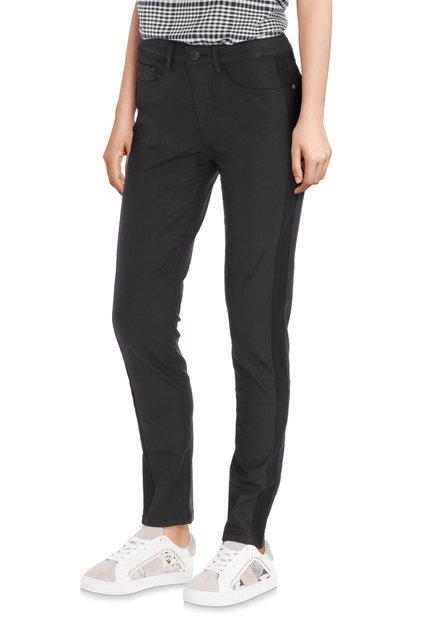 Pantalon noir avec revêtement – slim fit