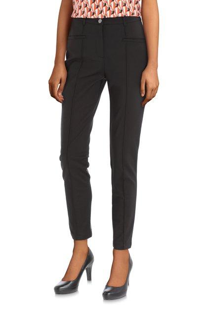 Pantalon noir classique à plis
