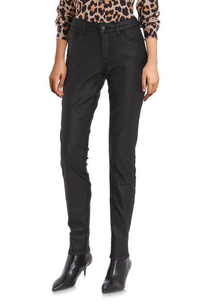 Pantalon noir revêtu - slim fit