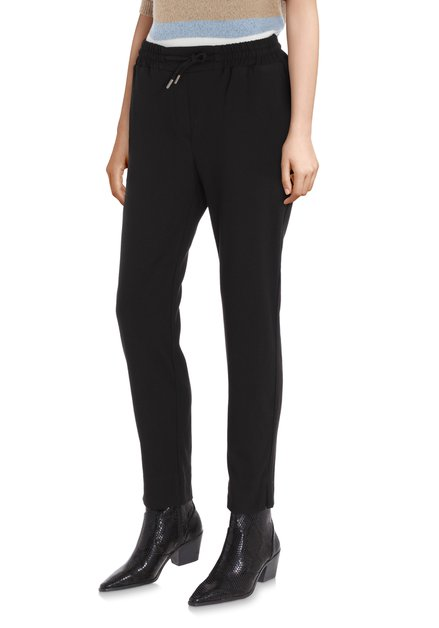 Pantalon noir sportif avec cordelette